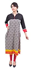 Krivi By Kk Women's Cotton Kurti (KRV-27-B_Multi-Coloured_M)
