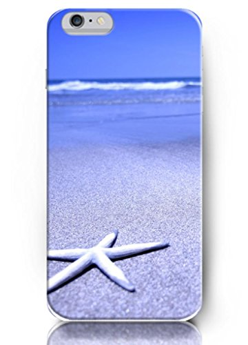 Ouo New Unique Design Hard Cover For 5.5 Inch Iphone 6 Plus Case With Design Of Big Starfish On The Beach