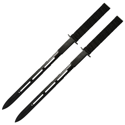 Twin Ninja Fighting Swords Black
