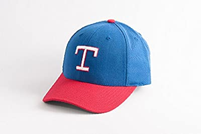 MLB Men's American Needle 1975 Texas Rangers Cooperstown 400 Snapback Cap (Royal, Adjustable)
