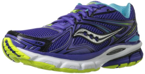 Saucony Women's Hurricane 16 Running Shoe,Purple/Blue/Citron,6.5 M US
