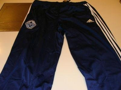 MLS Soccer Vancouver Whitecaps 2011 Clima Cool Dark Blue Track Training Pants XL - Men's NHL Other Apparel