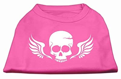 Mirage Pet Products Skull Wings Screen Print T-Shirt Dog Clothing Apparel Costume Pet Outfit Bright Pink XXL (18) from Mirage Pet Products