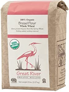 Amazon.com : Organic Stone-Ground Whole Wheat Bread Flour