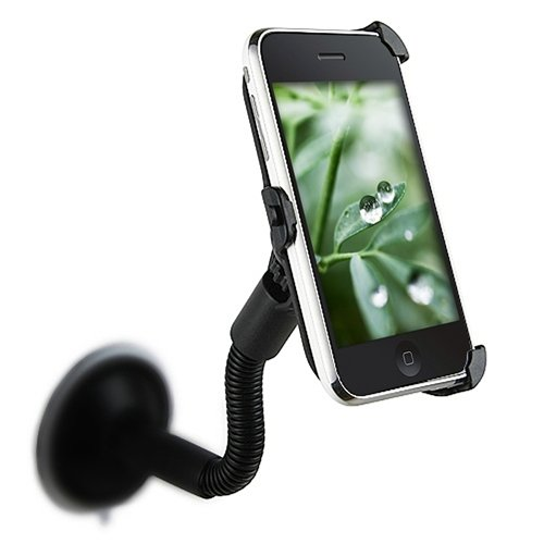 360 Degree Rotatable Car Windshield Holder Suction Mount for Apple iPhone 3G / 3G S Black (8gb/16gb/32gb) by AccessoryWizard