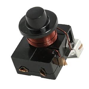 Amico 1/5 HP Fridge Electromagnetic Starter Compressor PTC Relay Black
