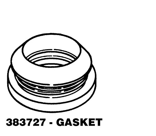 1 X 383727 Main Outer Tub Seal REPAIR PART FOR WHIRLPOOL, AMANA, MAYTAG, KENMORE AND MORE (Kenmore Tub Seal compare prices)