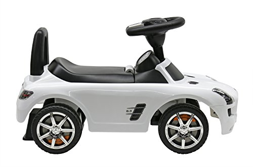 liscensed mercedes benz push ride on car for kids baby racer white little kid cars