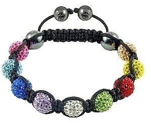 Shamballa Bracelet Lilac (No String) 9 Ball Disco Ball Friendship Bead Unisex Bracelets Swarovski Crystal Beads