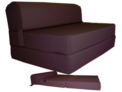 Cheap Brown Sleeper Chair Folding Foam Bed Sized 6″ Thick X 32″ Wide