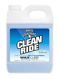 White Lightning Clean Ride 32oz Quart Jug, The Original Self-Cleaning Wax Bicycle Chain Lubricant