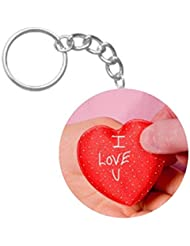 I Love You From Heart | ShopTwiz Printed Circle Key Ring