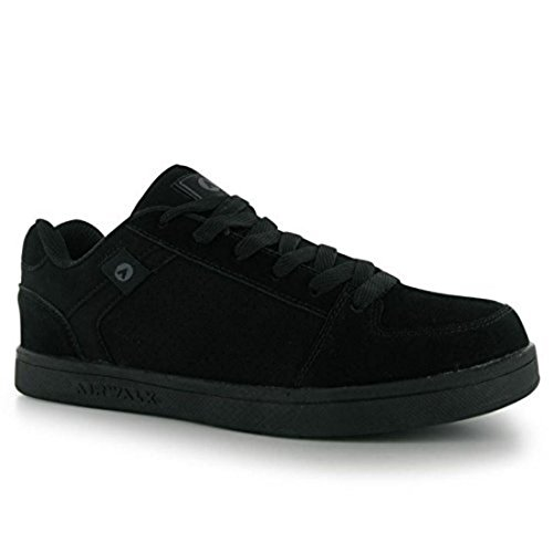 airwalk-mens-brock-skate-shoes-lace-up-suede-accents-sport-casual-trainers-black-uk-11