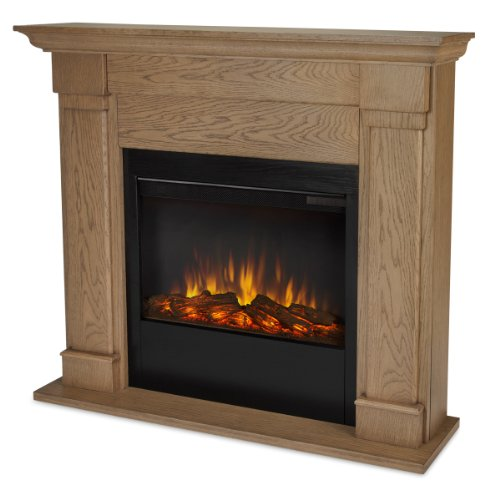 Real Flame Lowry 7900-X-Vbm Slim Line Electric Firpelace In Blonde Oak - Mantel Only