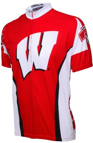 Adrenaline Promotions Wisconsin Cycling Jersey,Large, Red (Wisconsin Cycling Jersey compare prices)