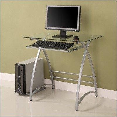 Buy Low Price Comfortable Home Loft Concept Alexa Solo Computer Desk in Silver WLK1149 (B005MXSR7I)