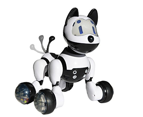Jenx Robot Interactive Puppy | Voice Recognition Intelligent Electronic Toy Dog | Gesture Sensing Talk Sing Dance Wake-up Sleep Laugh Bark Wagging Tail Scoot Around | Don't Wait and Adopt Me Now!