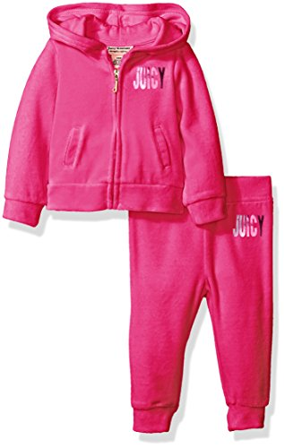 juicy-couture-baby-girls-2-piece-velour-hooded-jacket-and-pant-set-hot-pink-18-months