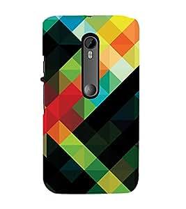 MULTI COLOURED CHECK PATTERN 3D Hard Polycarbonate Designer Back Case Cover for Motorola Moto G3 :: Motorola Moto G (3rd Gen)