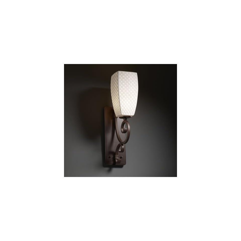 Justice Design Group POR 8578 65 CHKR DBRZ Limoges 1 Light