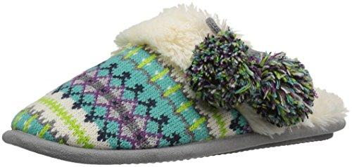 Dearfoams Women's Fairisle Closed Toe Scuff Slipper, Cool Combo, Medium/7-8 M US (Cool Slippers For Women compare prices)