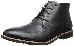 Rockport Men\'s Ledge Hill 2 Chukka Boot Black Leather 9 M (D)