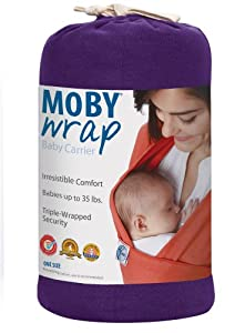 Moby Wrap Moderns 100% Cotton Baby Carrier, Majestic