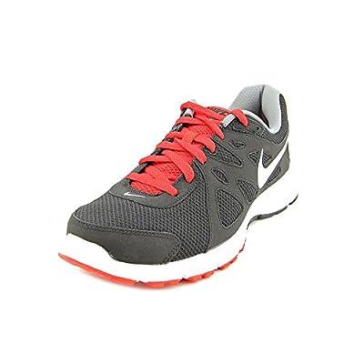 Nike Men's NIKE REVOLUTION 2 RUNNING SHOES 9.5 Men US (BLACK/WHITE/VARSITY RED/CL GRY)