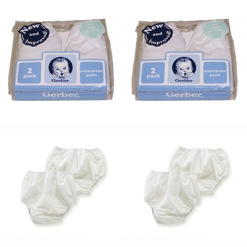 Gerber Plastic Pants, 0-3 Months, Fits Up To 12 Lbs (4 Pairs) front-77529