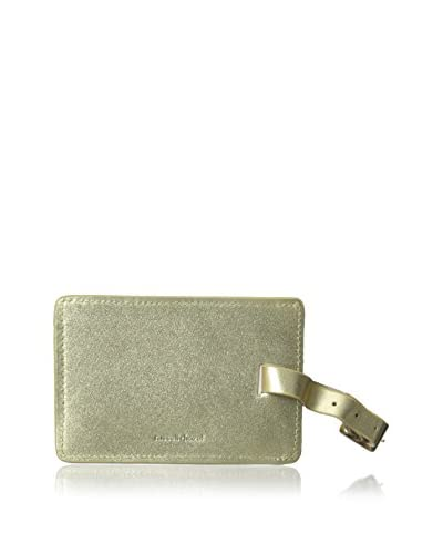 russell+hazel Leather Luggage Tag, Gold