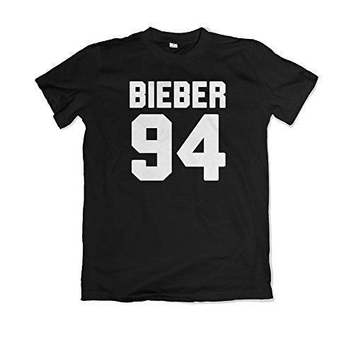 Justin Bieber / Bieber 94 / Justin Bieber Abligamento / Justin Bieber T shirt / MS2 (L, Nero)