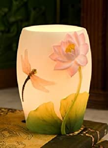 Dragonfly & Water Lily Night Lamp