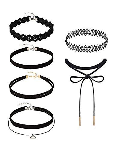 6-stuck-choker-halsketten-set-velvet-halskette-tattoo-halsband-schwarz-halsband