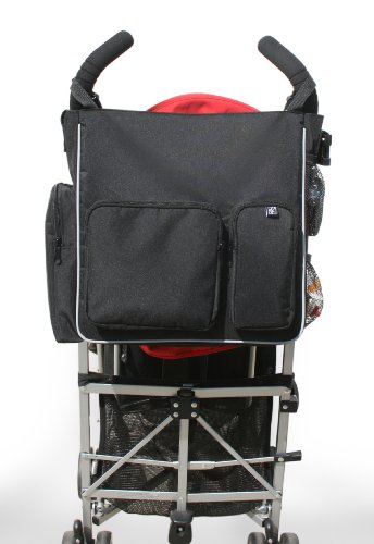 jl childress moxi tote stroller diaper bag black grey designer nappy bags. Black Bedroom Furniture Sets. Home Design Ideas