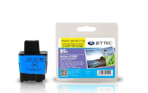 Jet Tec BRLC900C Tintenpatrone für Brother LC900, cyan