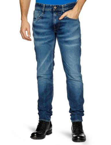 Replay Anbass Slim Men's Jeans Dark Laser Wash W32INxL34IN