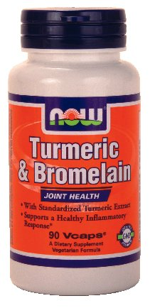 Now Foods Turmeric & Bromelain, 90 Vcaps