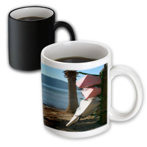 Taiche - Photography - Canoes - Canoes And Kayaks Three Upturned Canoes Or Kayaks On A Beach - 11Oz Magic Transforming Mug (Mug_128331_3)