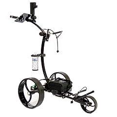 New Cart-Tek GRX-950 Li Electric Golf Caddy Gloss Black With Lithium Ion Battery by CartTek Golf