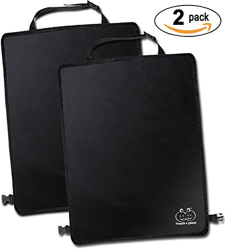 Freddie and Sebbie Kick Mats- Luxury Car Seat Back Protectors 2 Pack, Perfect Backseat Organizer and Seat Covers For Car, SUV, Auto and Child Safety Seat Accessories (Cars Deluxe Toy Organizer compare prices)