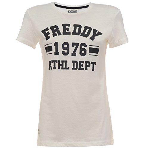 Freddy F6Wtct4 T-Shirt, Donna, Bianco Sporco (Off White), X-Small (Taglia Produttore:Xs)