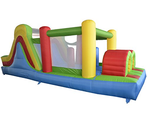 Yard Inflatable Bounce House Bouncer Obstacle Course Super Combo Slide Jumper 6 in 1 without Blower