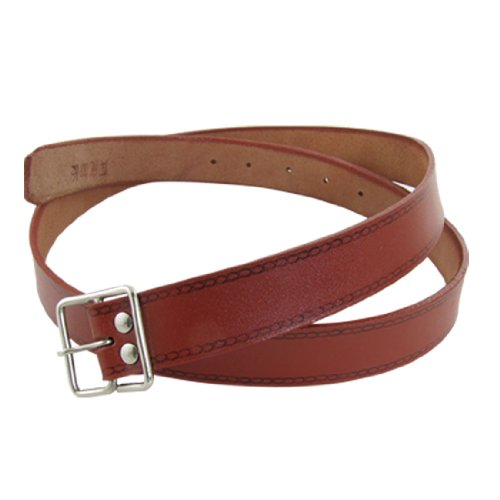 Allegra K Lady Brick Red Faux Leather Band Pin