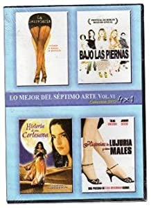 Pack 4-Movie Set: Secretary (La Segretaria) + Piedras (Bajo Las Piernas) + Historia De Una Cortesana + Teknolust (Historias De Lujuria Y Otros Males) DVD Import Region 1 Ntsc Spanish Cover & Subtitles