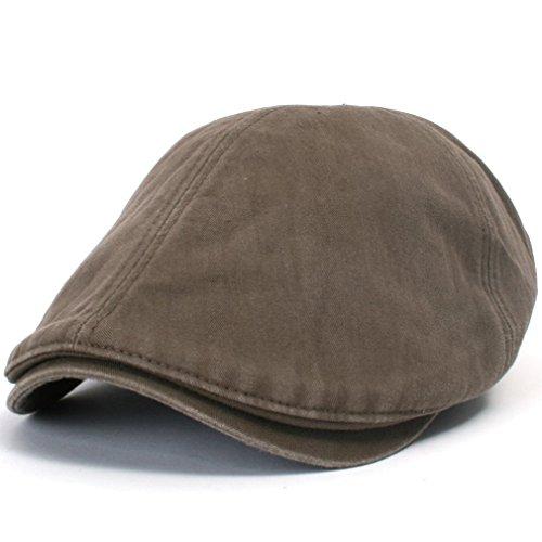 ililily New Men's Cotton washing Flat Cap Cabbie Hat Gatsby Ivy Caps Irish Hunting Hats Newsboy