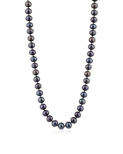 "Splendid 6-7mm Black Freshwater Pearl 28"" Necklace"
