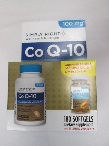 Co Q-10 100Mg Cardiovascular Antioxidant Bottle Of 180 Soft Gels Includes Bonus Bottle Of Omega3-6-9