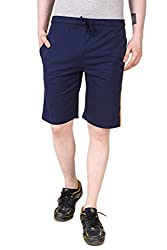 Aventura Outfitters Single Jersey Shorts Navy Blue with Two Orange Stripes - XL (AOSJSH306-XL)