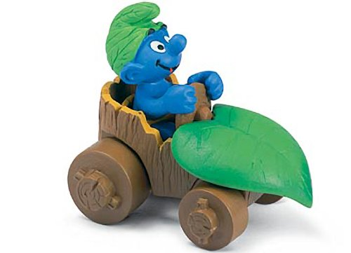 Buy Low Price Schleich Smurf in Car: Smurf in a Diorama Mini Figure Series [402645] (B004RWEL02)