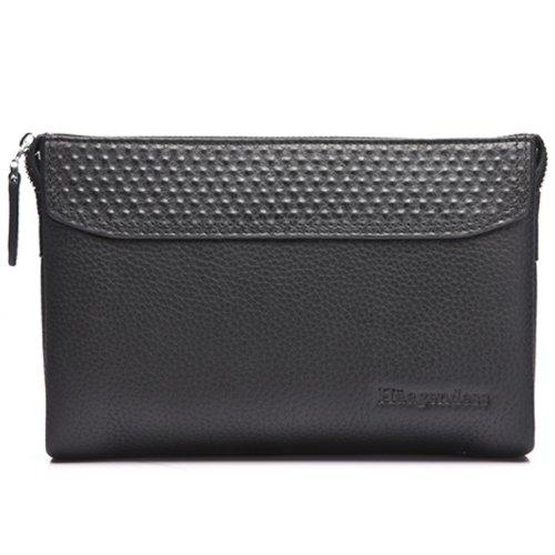 Haagendess Mens Business Zipper Wristlet Handbag Organizer Purse